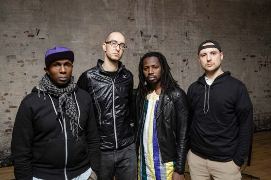 """Riveting, futuristic, original"": HPrizm, Steve Lehman, Gaston Bamar Ndoye and Maciek Lasserre (from left) image 0"