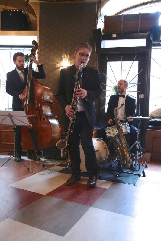 Martin Sjöstedt, Daniel Fredriksson and Fredrik Lindborg (LSD) at Scalateatern; Stockholm Jazz Festival 2016
