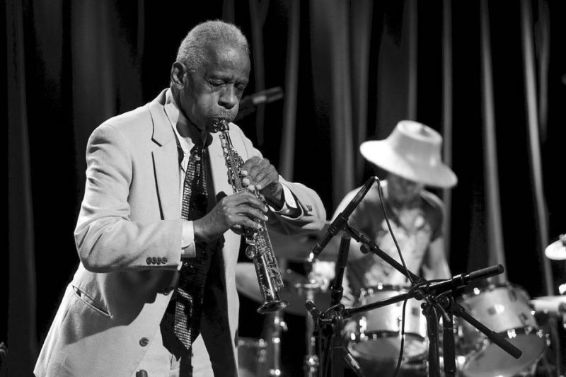 Roscoe Mitchell and Kikanju Baku (from left) at Kulturhuset; Stockholm Jazz Festival 2016