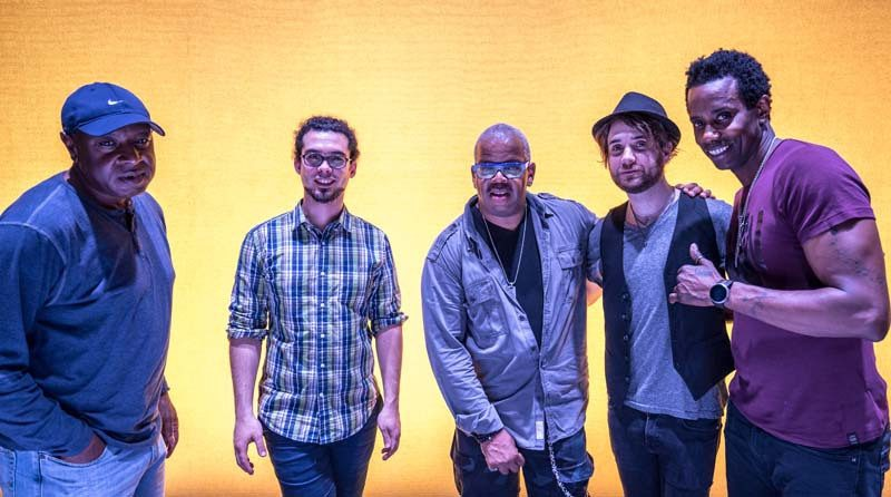 """We didn't realize how big a sound we had gotten,"" Blanchard says of his E-Collective. From left: bassist Donald Ramsey, keyboardist Fabian Almazan, Blanchard, guitarist Charles Altura and drummer Oscar Seaton"