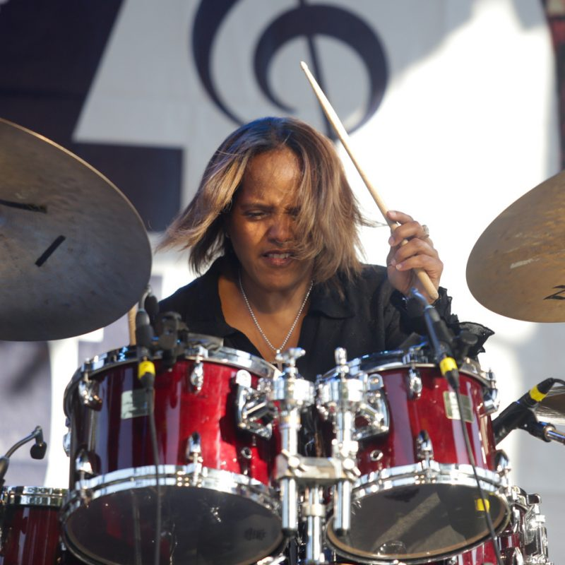 Terri Lyne Carrington performs at the 2016 Springfield Jazz & Roots Festival