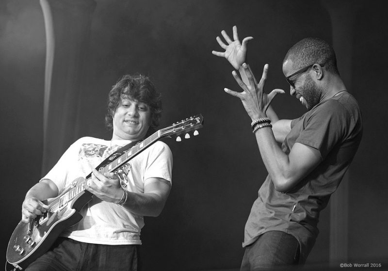 Trombone Shorty and guitarist Pete Murano perform at the 2016 TD Ottawa Jazz Festival