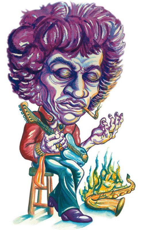 illustration of Jimi Hendrix