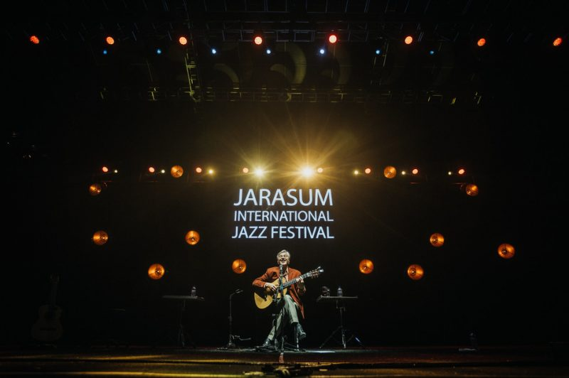 Caetano Veloso performs at the Jarasum International Jazz Festival