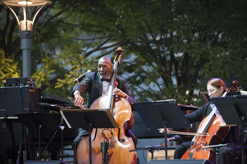 Ron Carter leads his nonet on opening night of the 2016 Detroit Jazz Festival