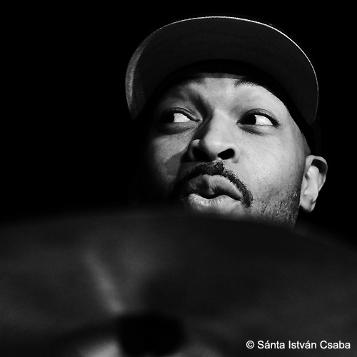 Eric Harland with Aziza at the 2016 Moncalieri Jazz Festival in Italy