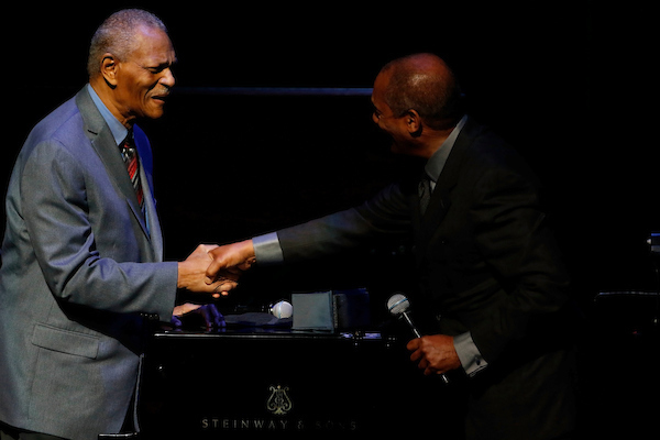 "McCoy Tyner and Joe Morton at the 15th Annual ""A Great Night in Harlem"""