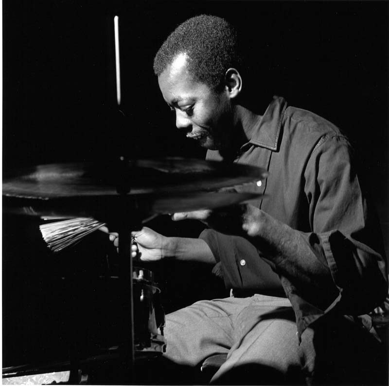 Andrew Cyrille records with Cecil Taylor at the Van Gelder Studio in 1966