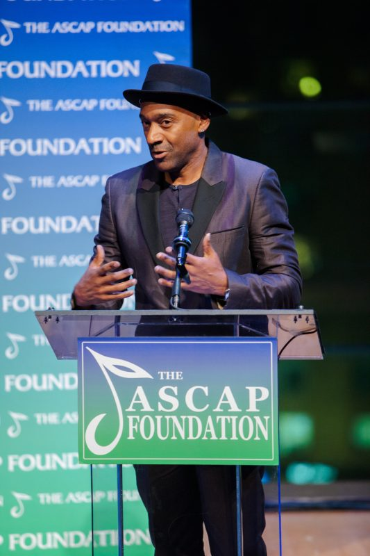 ASCAP Board Member Marcus Miller speaks at the 2016 ASCAP Foundation Honors