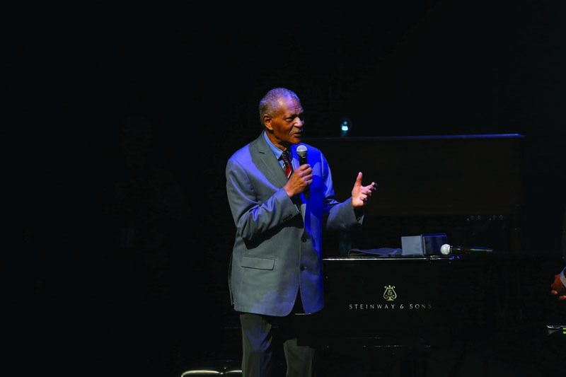 "McCoy Tyner accepts the Lifetime Achievement Award at ""A Great Night in Harlem"""