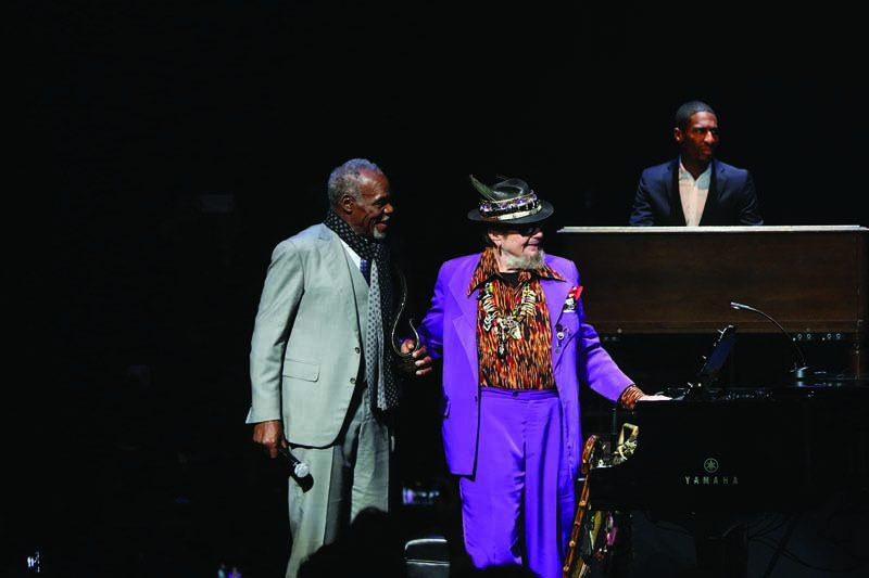 Dr. John flanked by Danny Glover and Jon Batiste in Harlem