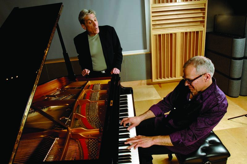 Laurence Hobgood (at piano) with poet Robert Pinsky