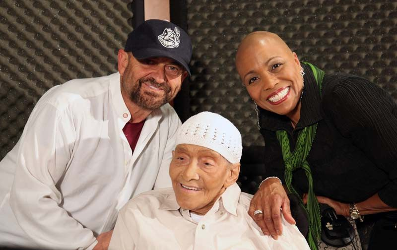 "Jimmy Scott with Joe Pesci and Dee Dee Bridgewater, two of the guests on ""I Go Back Home"""