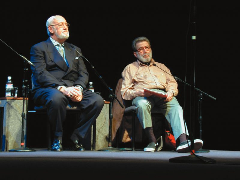 Photo of Bruce Lundvall and Nat Hentoff