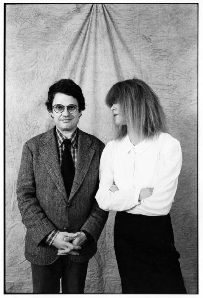 Carla Bley with Charlie Haden in the early 1980s (photo by Roberto Masotti/ECM Records)
