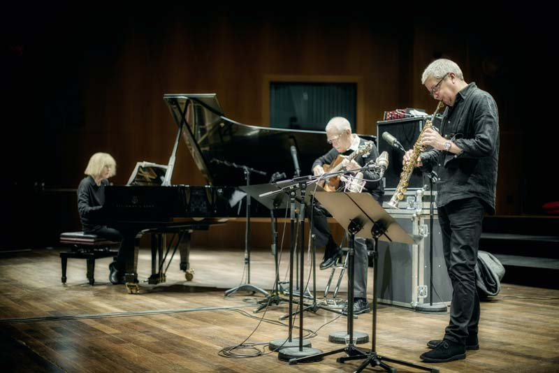 Carla Bley, Steve Swallow and Andy Sheppard (photo by Caterina Di Perri/ECM Records)