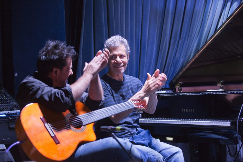 Chick Corea's Flamenco Heart: Chick Corea, piano, handclaps; Niño Josele, guitar, handclaps (photo by Alan Nahigian)