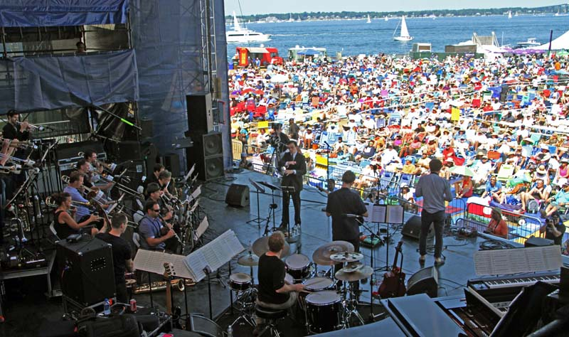 Darcy James Argue's Secret Society at Newport Jazz Festival (photo by Ken Franckling)