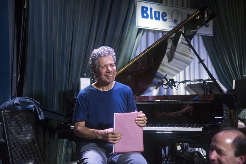 Chick Corea, piano, with the Trondheim Jazz Orchestra (photo by Alan Nahigian)