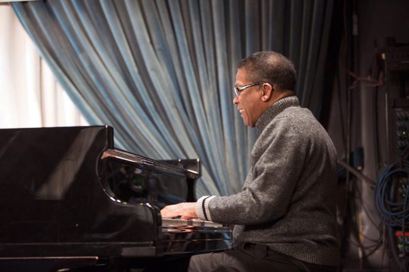 Herbie Hancock at Chick Corea's 75th Birthday Celebration at the Blue Note (photo by Alan Nahigian)