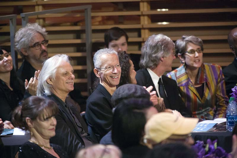 Jarrett with ECM Records staff, including, to his right, label founder Manfred Eicher, at the 2014 NEA ceremony (photo by Alan Nahigian) ceremony (photo by Alan Nahigian)