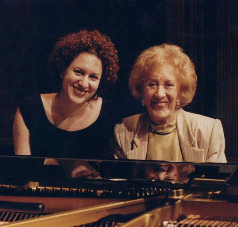 Roberta Piket & Marian McPartland (photo courtesy of Roberta Piket)