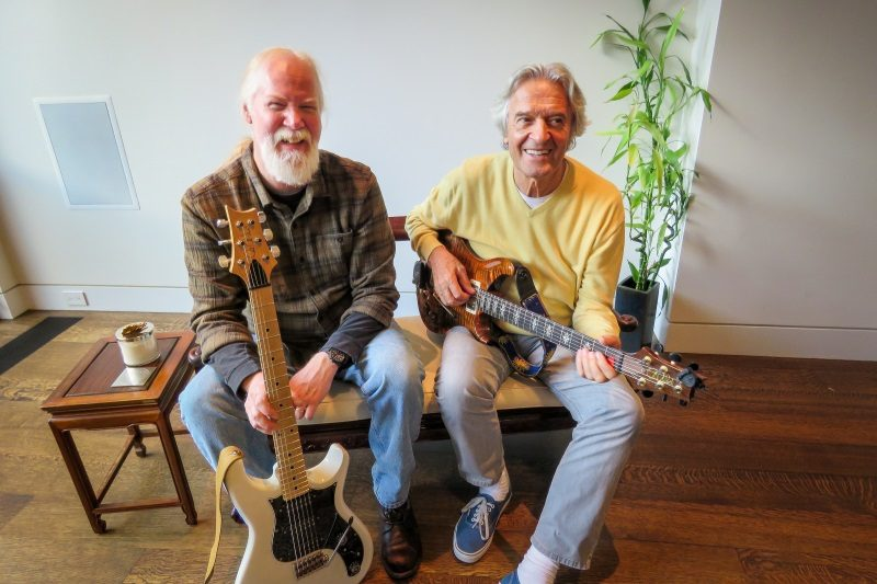 Photo of John McLaughlin with Jimmy Herring