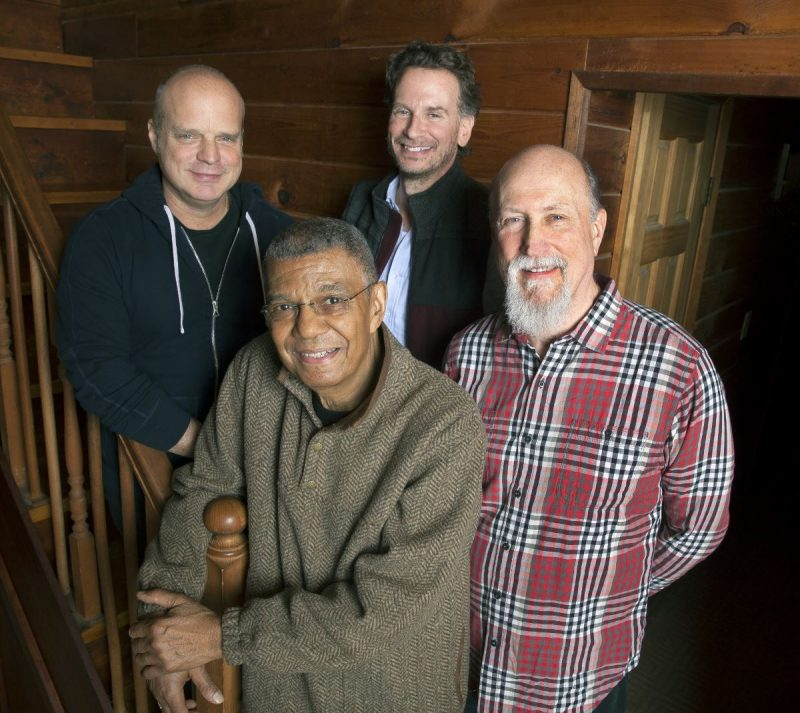 Hudson (from top and left): John Medeski, Larry Grenadier, Jack DeJohnette and John Scofield (photo by Bill Douthart)
