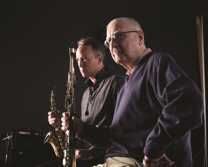 Joe Temperley (right) with Ted Nash (photo by Lawrence Sumulong/Jazz at Lincoln Center)