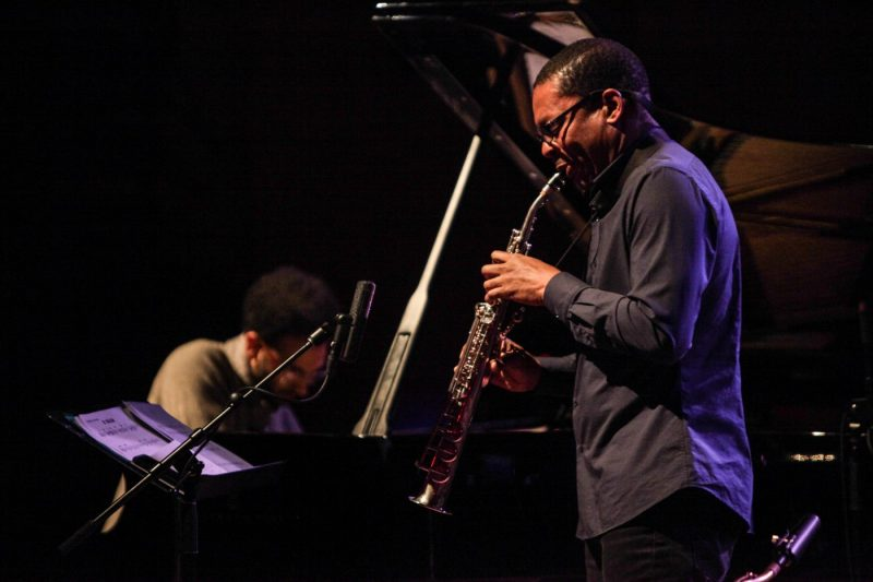 Ravi Coltrane (right) and David Virelles (photo by Jati Lindsay)