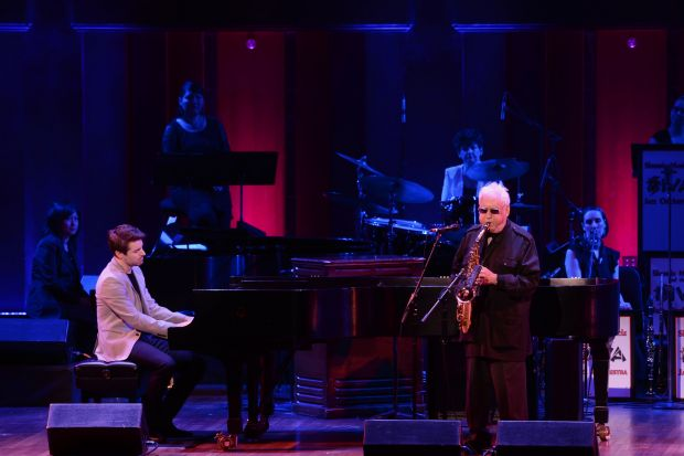 2009 NEA Jazz Master Lee Konitz (right) and pianist Dan Tepfer perform in honor of Ira Gitler (photo by Shannon Finney)