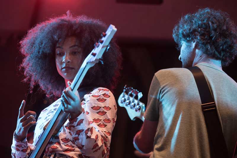 Esperanza Spalding at 2017 GroundUP Music Festival (photo by Stella K)