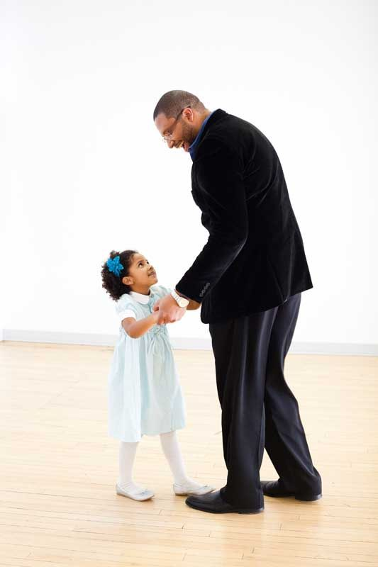 Saxophonist Jimmy Greene with daughter Ana Grace Márquez-Greene (photo by K. Rifkind)