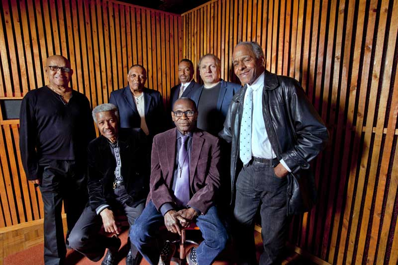 The Cookers: Billy Harper, Cecil McBee, George Cables, Eddie Henderson, Billy Hart, Donald Harrison, David Weiss (photo by John Abbott)