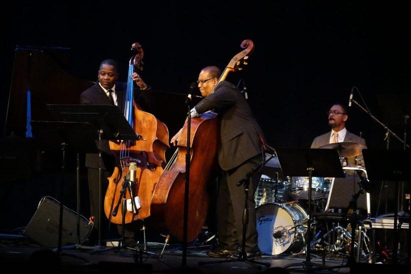 Rodney Whitaker, Rodney Jordan and Jason Marsalis (photo by Perry Tannenbaum)
