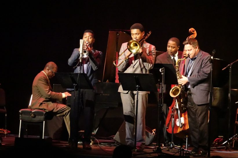 Marcus Roberts, Randall Haywood, Corey Wilcox, Rodney Whitaker and Stephen Riley (photo by Perry Tannenbaum)