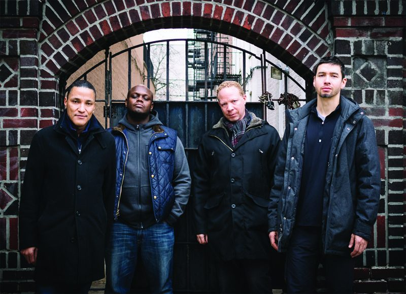 Miles Okazaki (right), with Sean Rickman, Anthony Tidd and Craig Taborn (from left) (photo by Dimitri Louis)