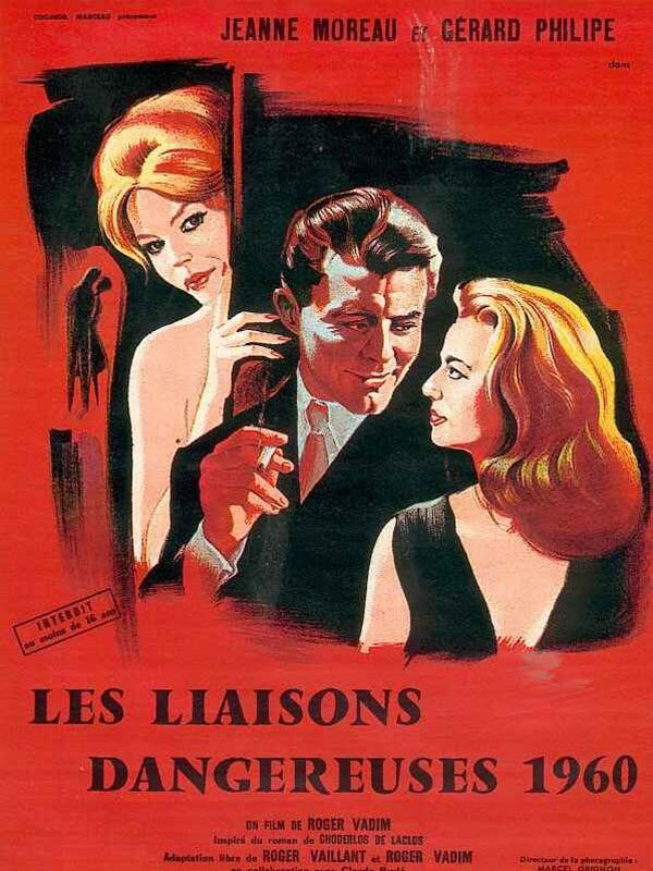 Poster for Les Liaisons Dangereuses 1960 (image courtesy of Fred Thomas/Private Collection)
