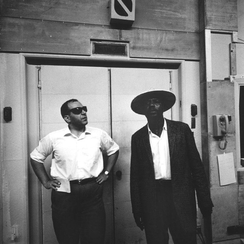 Thelonious Monk (right) with French producer Marcel Romano (photo courtesy of Arnaud Boubet/Private Collection)