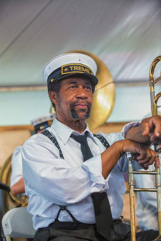 Freddie Lonzo of the Treme Brass Band (Photo by Mark Robbins)