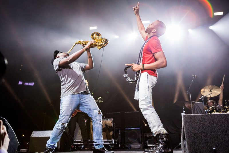 Shorty and saxophonist BK Jackson in New York (photo by Sachyn Mital)