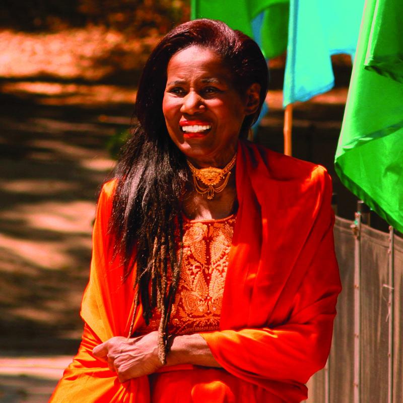 Alice Coltrane, or Swamini Turiyasangitananda, at her Sai Anantam Ashram in August 2005 (photo by Sri Hari Moss)