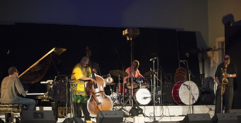 Matthew Shipp, William Parker, Michael TA Thompson, Joe McPhee and Gebhard Ullmann, from left (photo by Marek Lazarski)