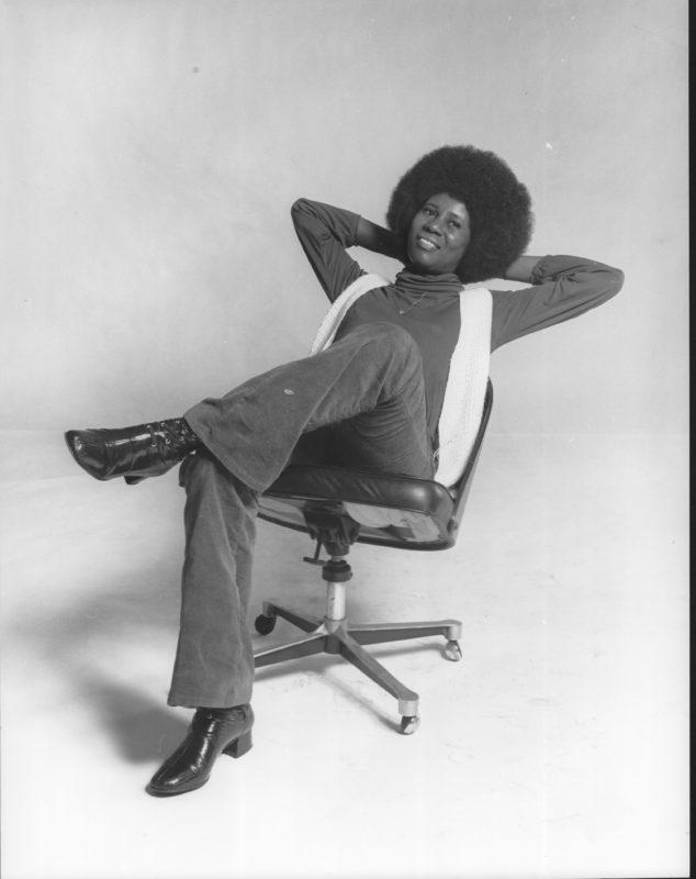 Alice Coltrane in April 1971 (Credit: © Chuck Stewart Photography LLC)