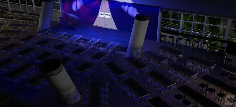 Artist rendering of the Blue Note Rio main space (image courtesy BNEG/Gávea Arquitetos)