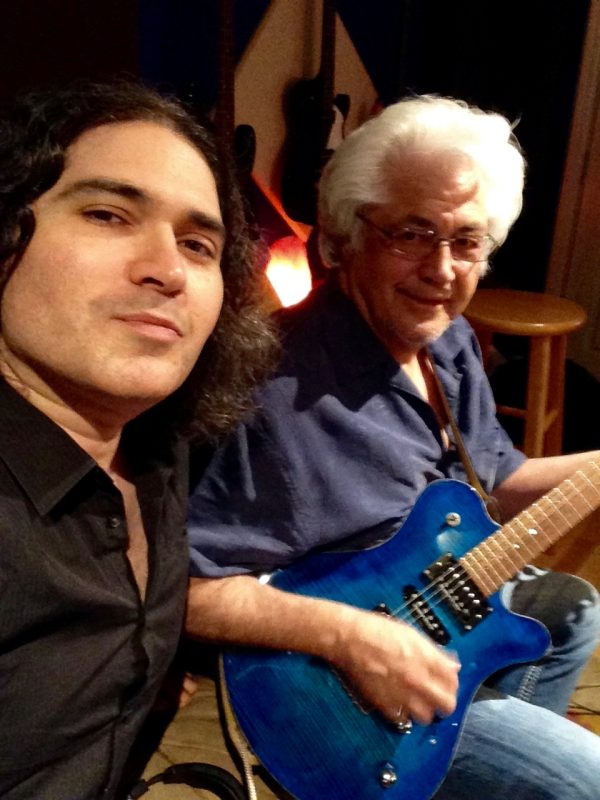 Julian and Larry Coryell (photo courtesy of the artist)