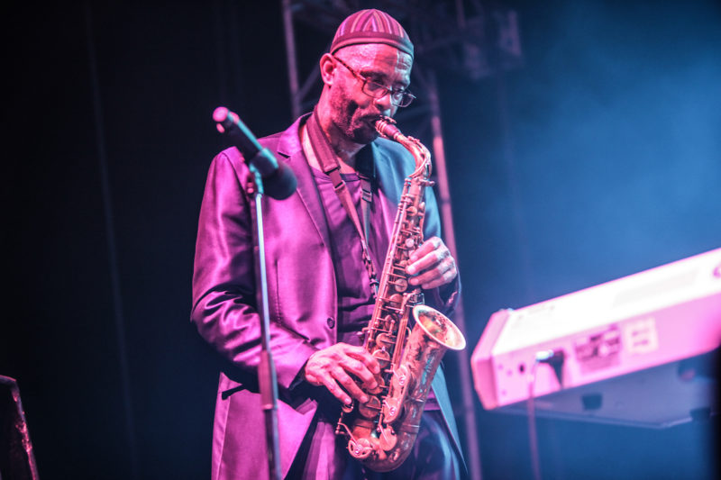 Kenny Garrett sits in with the Robert Glasper Experiment at DC JazzFest at the Yards (Photo by Jati Lindsay)