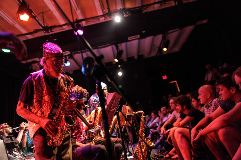 Marshall Allen of the Sun Ra Arkestra at the Logan Fringe Arts Space (Photo by Jati Lindsay)