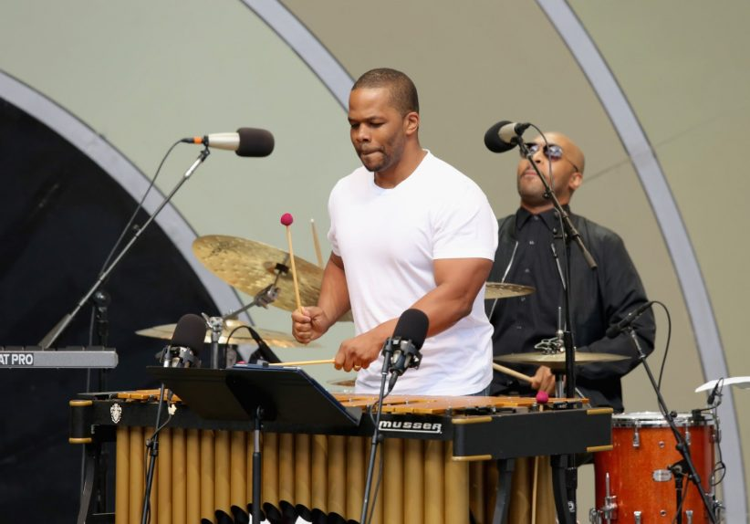 From left: Warren Wolf and drummer Eric Harland (photo by Mathew Imaging)