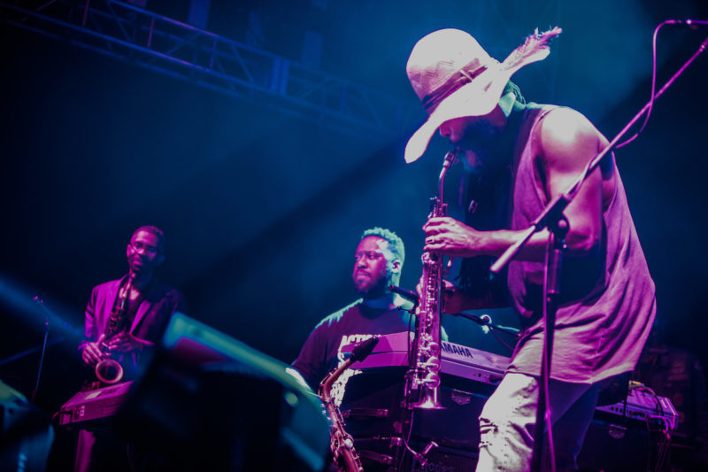 Kenny Garrett, Robert Glasper and Casey Benjamin (from left) at DC JazzFest at the Yards (Photo by Jati Lindsay)